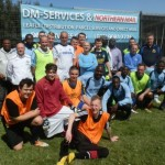 Image shows DM Services Sponsor Local Football Competition